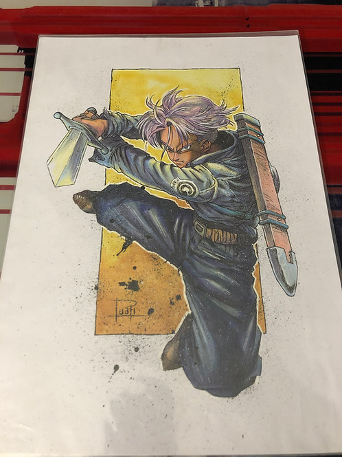 Trunks - Copic & Ink