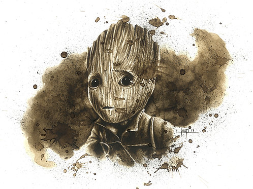 Baby Groot-Coffee Art