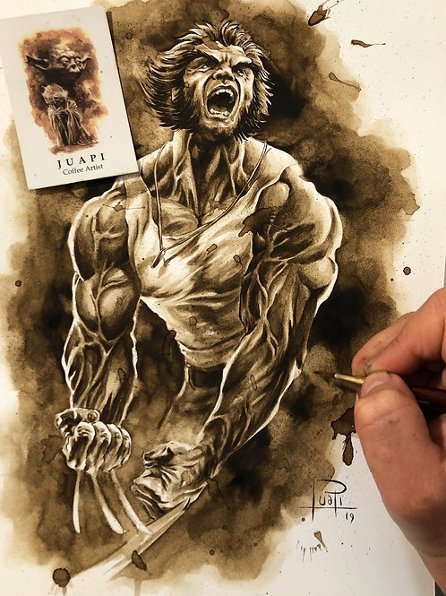 Logan Comic- Original Coffee Art