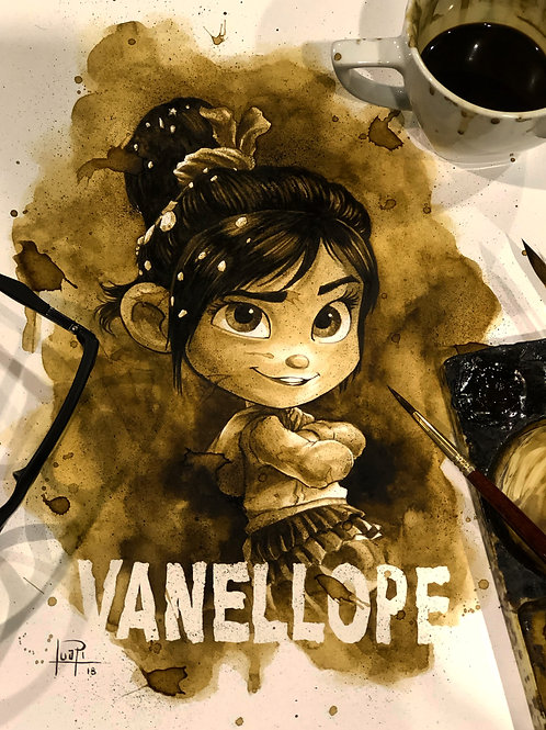 Vanellope - Original Coffee Art