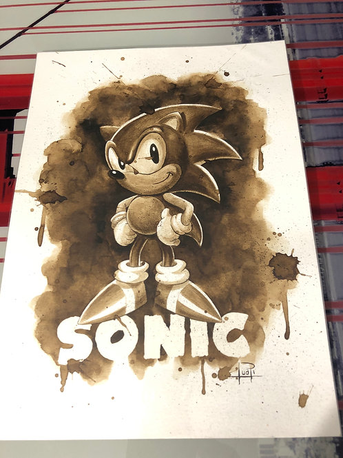 Sonic - Original Coffee Art