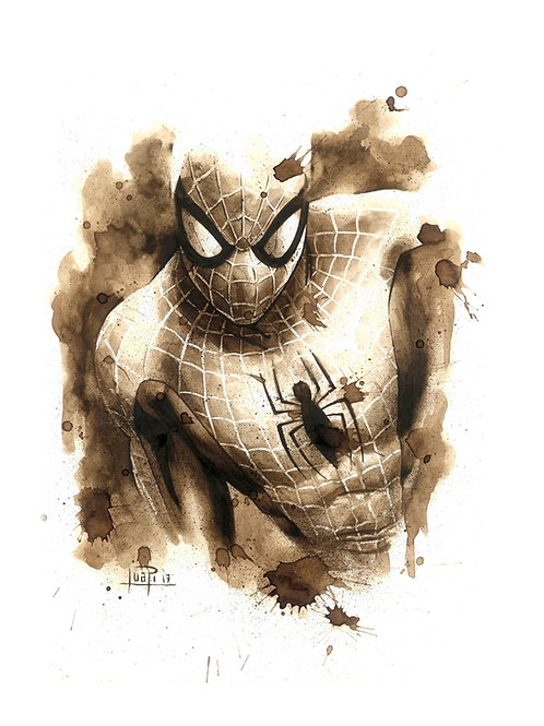 Spiderman-Coffee Art