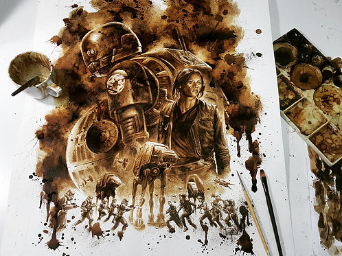 Rogue One - Original Coffee Art