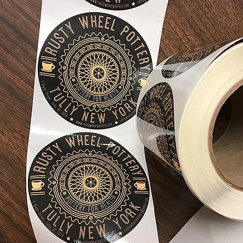 Rusty Wheel Pottery Sticker