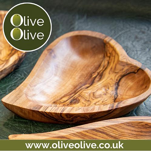 Olive Wood Heart Shaped Dish