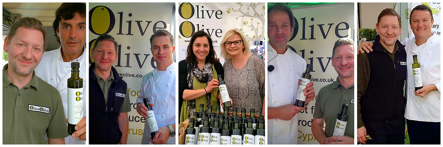 michelin star chefs use OliveOlive 100% extra virgin olive oil for their cookery demos