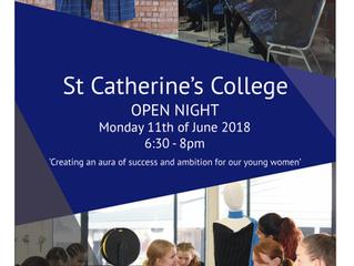 St Catherine's College Open Night Monday 11th June 6.30pm - 8.00pm.