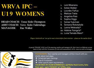 IPC Volleyball Teams 2019