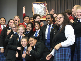 St Catherine's College and Sacred Heart College Lower Hutt take out the 2018 O'Shea Shield.
