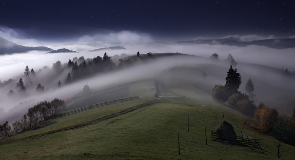 Night in the Carpathian Mountains