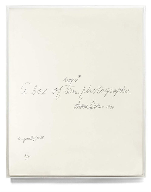 Diane Arbus: A Box of Ten Photographs by John P. Jacob & Diane Arbus