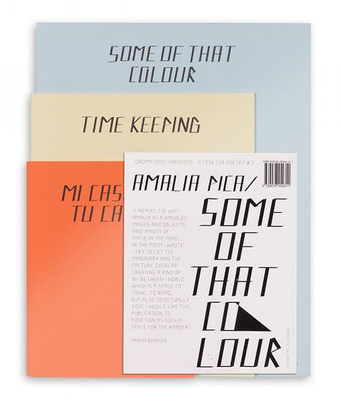 Some of the Colour by Amalia Pica, Felix Weigand & Maria Barnas