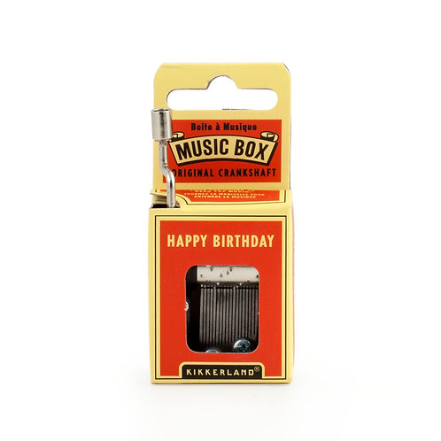 Happy Birthday Crank Music Box by Kikkerland