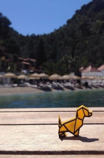 Dog Pin (Yellow) by Sollasi Design