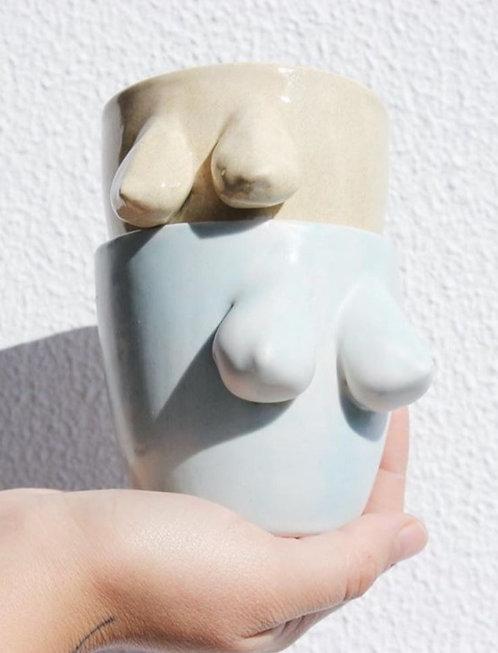 Boobies Mug (Blue) by F2Studio