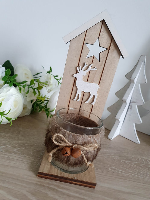 Reindeer Votive Candle Holder With Stand