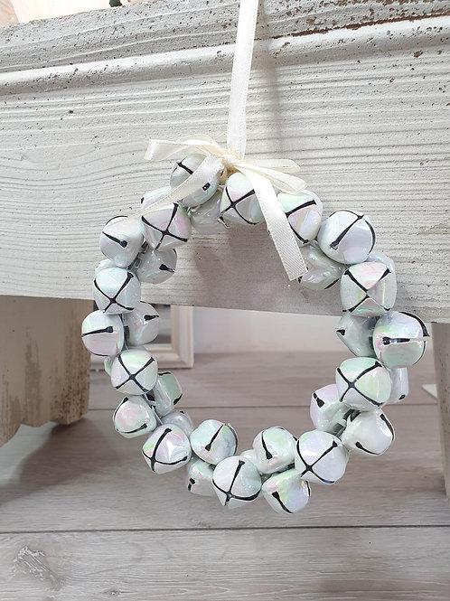 Mini Iridescent Jingle Bells Wreath