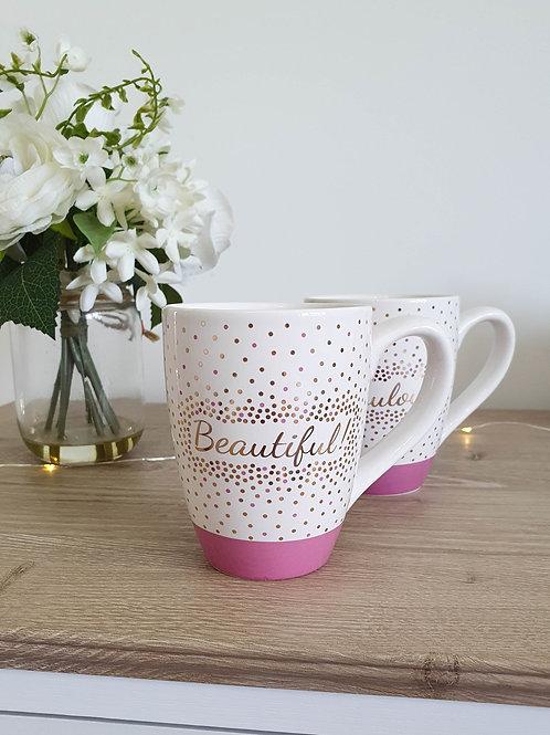 Hot Pink Mirror Gold Mug