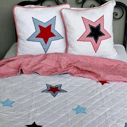 Nordic Gingham Star Bed Set