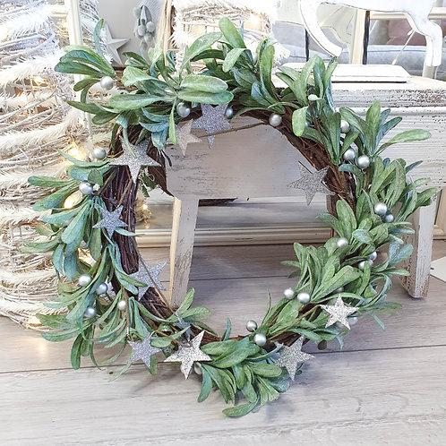 Mistletoe & Star Door Wreath