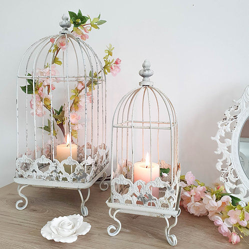 Vintage White Decorative Bird Cage