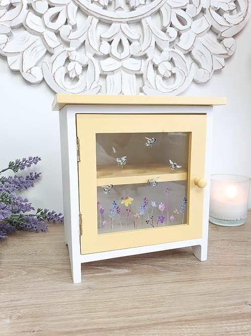 Yellow Floral Bee Egg House