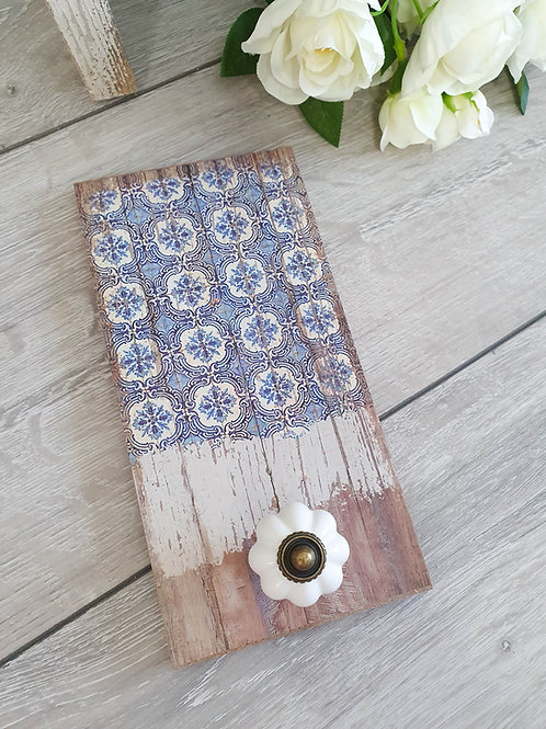 Vintage Inspired Wooden Hook Plaque