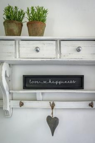 Romantic Love & Happiness Heart Wall Plaque