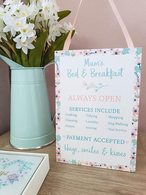 Mum's Breakfast In Bed Plaque