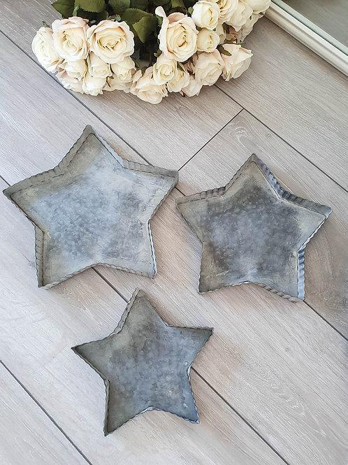 Zinc Metal Star Shaped Trays