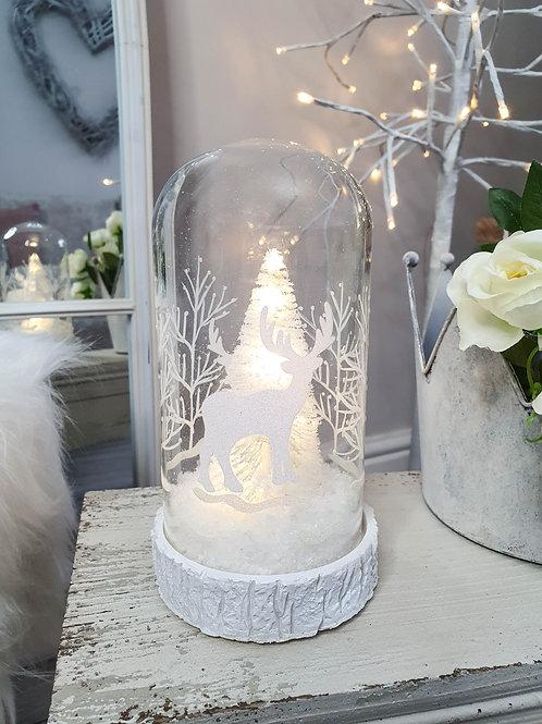 White Winterland LED Bell Jar