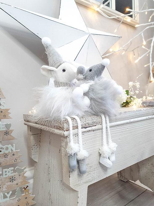 Fluffy Shelf Sitting Mouse