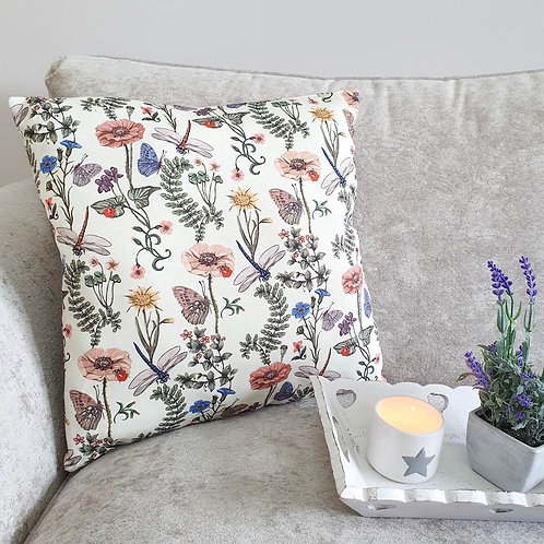 English Garden Inspired Cushion