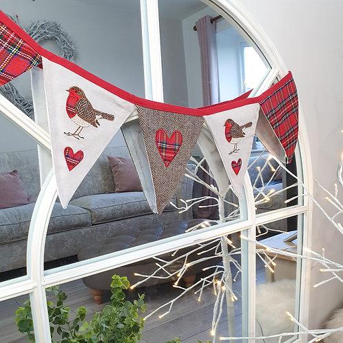 Red Robin Fabric Bunting
