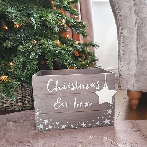 Grey Wooden Christmas Eve Box