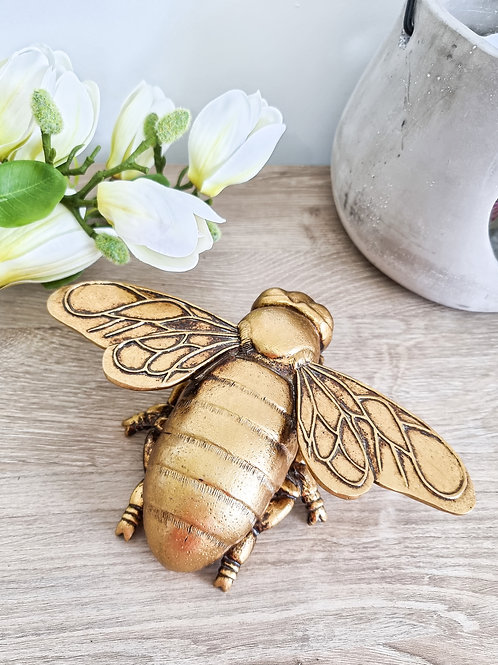 Chunky Gold Bee Wall Decoration