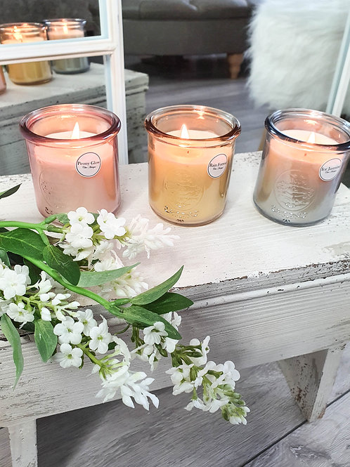 Vintage Glass Jar Scented Candles