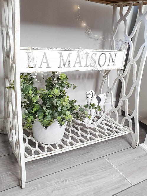 White La Maison Cast Iron Console Table