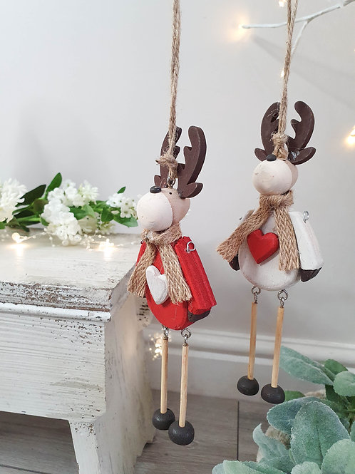 Festive Hanging Reindeer Decoration