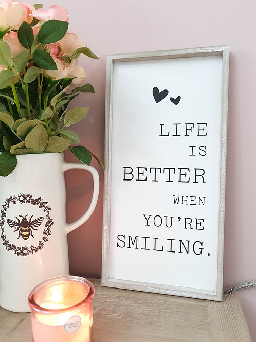 Life Is Better.. Framed Plaque