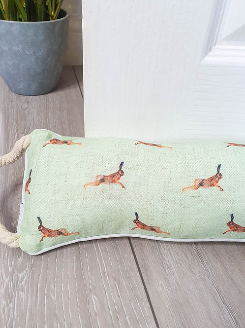 Light Green Repeat Hare Draught Excluder