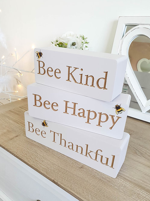 Positive Bee Inspired Wooden Block Set