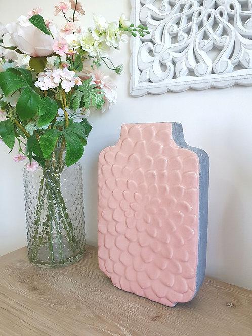 Pink & Grey Tall Petal Vase