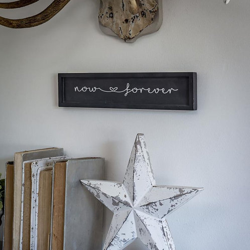 Romantic Now & Forever Heart Wall Plaque