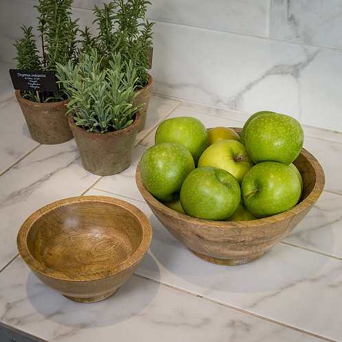 Natural Mango Wooden Fruit Bowl