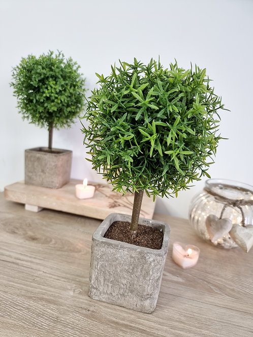 Faux Potted Bay Topiary Tree