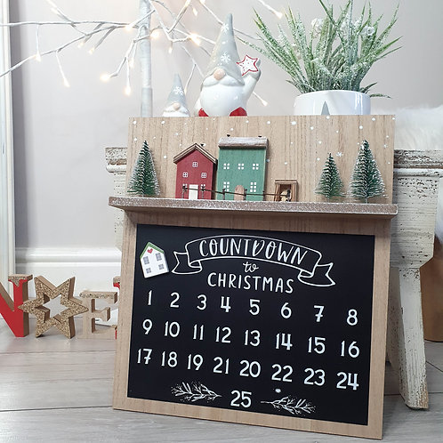 Christmas Scene Countdown Plaque
