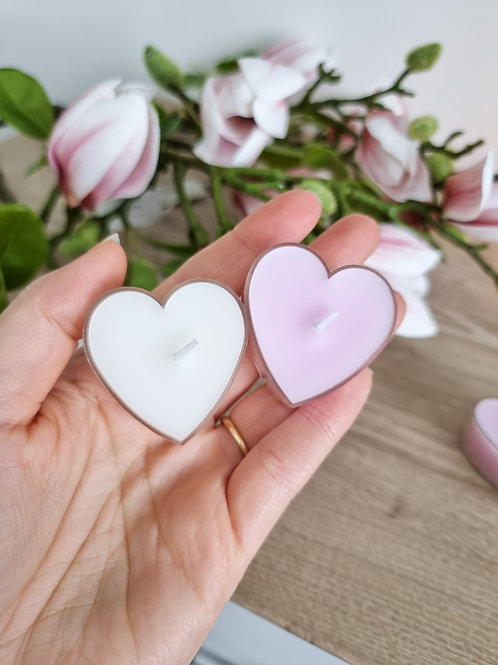 Heart Shaped Mini Candles - Pack Of 4
