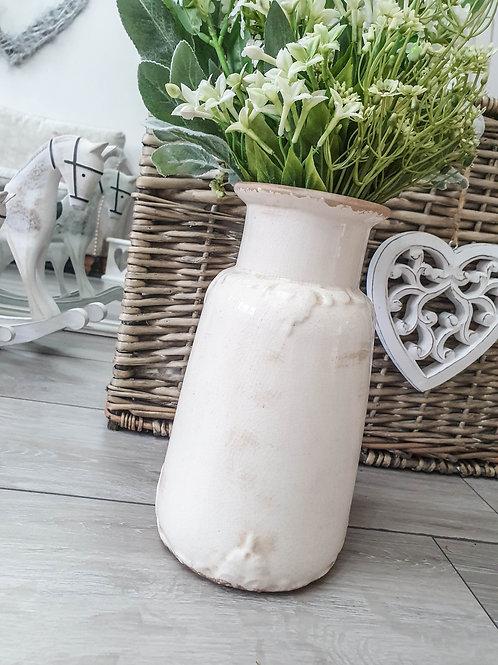 Vintage Cream Darcey Vase