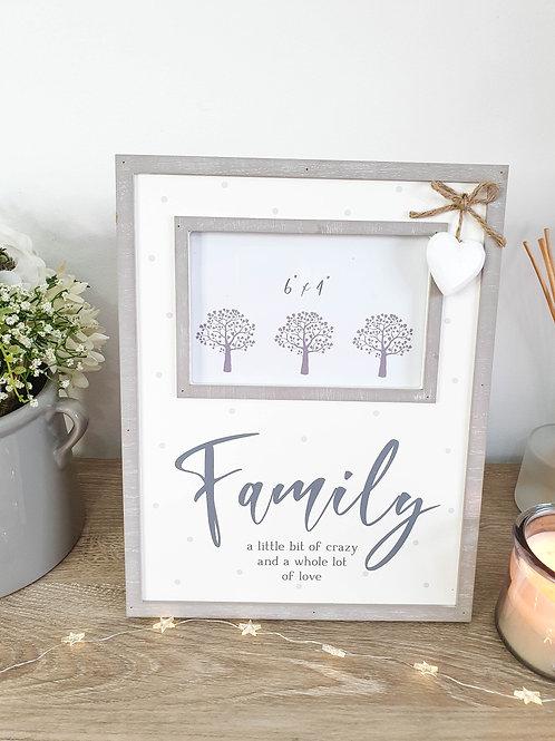 Polka Dot Family Photo Frame